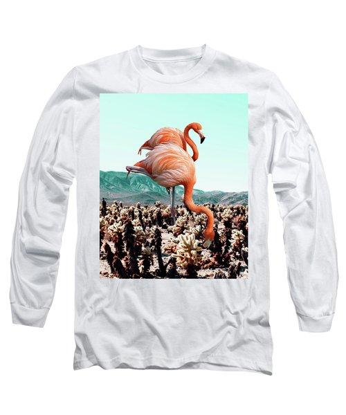 Flamingos In The Desert Long Sleeve T-Shirt