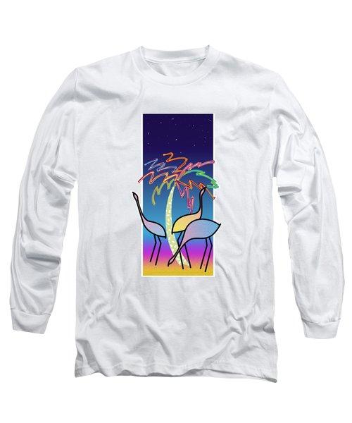 Flamingos Long Sleeve T-Shirt by Steve Ellis