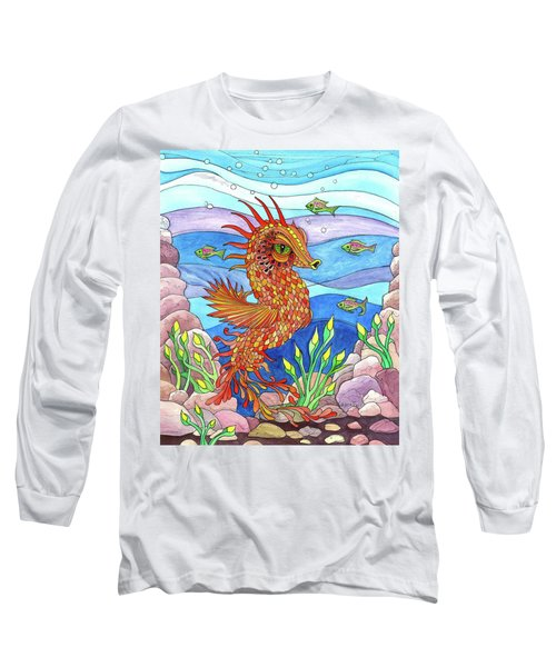 Flashy Swimmer And Fishes Long Sleeve T-Shirt