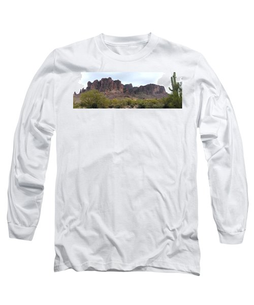 Flatiron Of The Superstition Mountains Long Sleeve T-Shirt