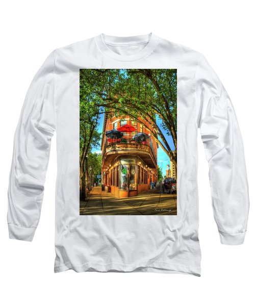 Flatiron Style Pickle Barrel Building Chattanooga Tennessee Long Sleeve T-Shirt by Reid Callaway