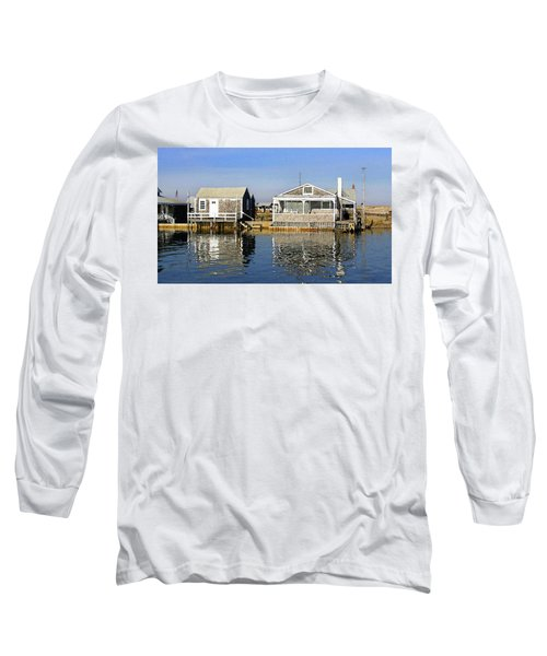 Fletchers Camp And The Little House Sandy Neck Long Sleeve T-Shirt