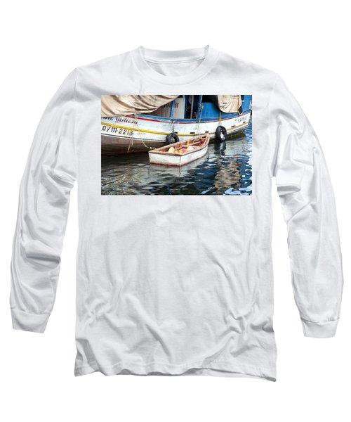 Floating Market Long Sleeve T-Shirt by Allen Carroll