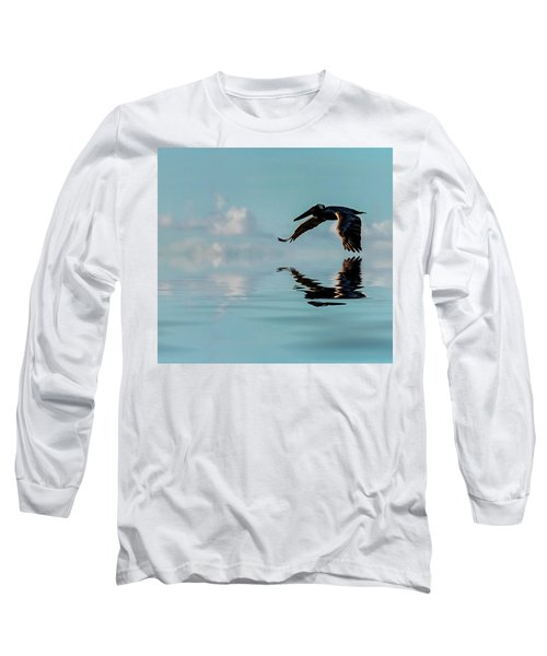 Floating On Air Long Sleeve T-Shirt by Cyndy Doty