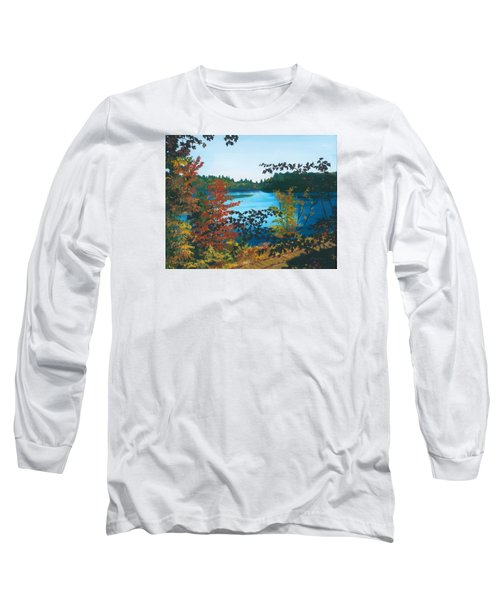 Long Sleeve T-Shirt featuring the painting Floodwood by Lynne Reichhart