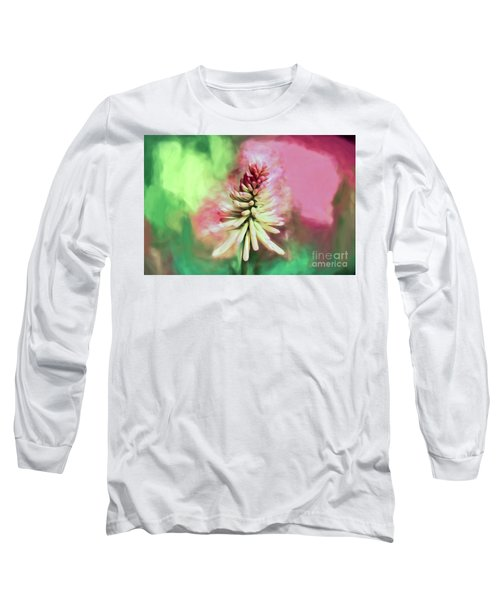 Long Sleeve T-Shirt featuring the photograph Floral Art - Red Hot Poker by Kerri Farley