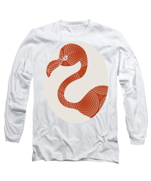 Floral Flamingo Long Sleeve T-Shirt
