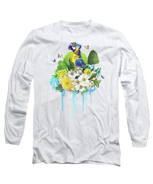 Floral Parrot Long Sleeve T-Shirt
