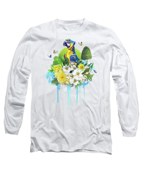 Floral Parrot Long Sleeve T-Shirt