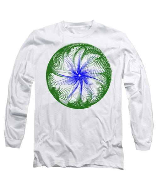 Floral Web - Green Blue By Kaye Menner Long Sleeve T-Shirt