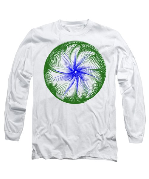 Floral Web - Green Blue By Kaye Menner Long Sleeve T-Shirt