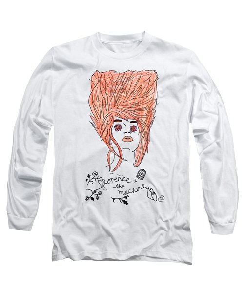 Florence And The Machine Long Sleeve T-Shirt by Lucy Frost