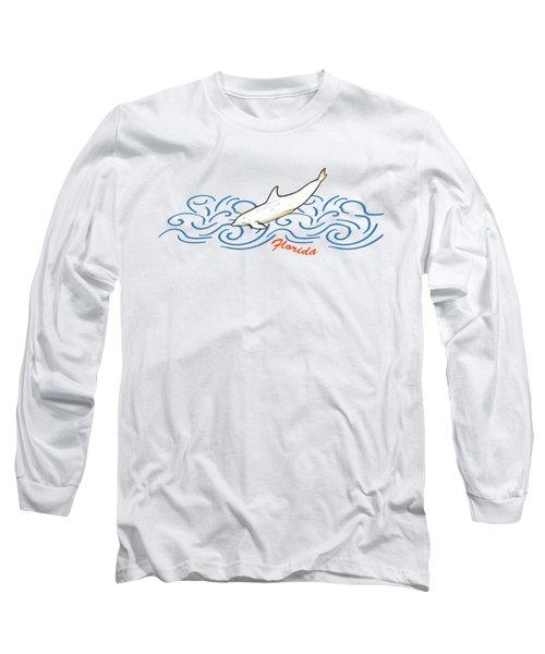 Florida Dolphin Print Long Sleeve T-Shirt