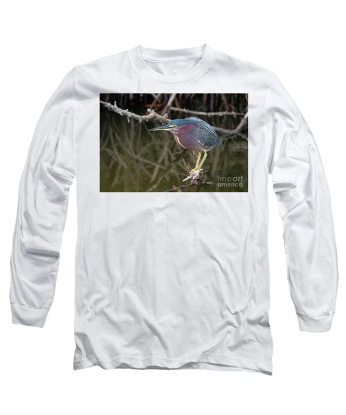 Florida Green Heron Long Sleeve T-Shirt