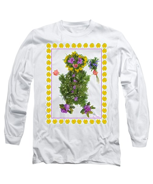 Long Sleeve T-Shirt featuring the digital art Flower Baby by Lise Winne