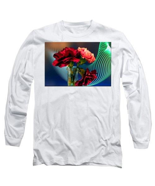 Flower Decor Long Sleeve T-Shirt by Mikki Cucuzzo
