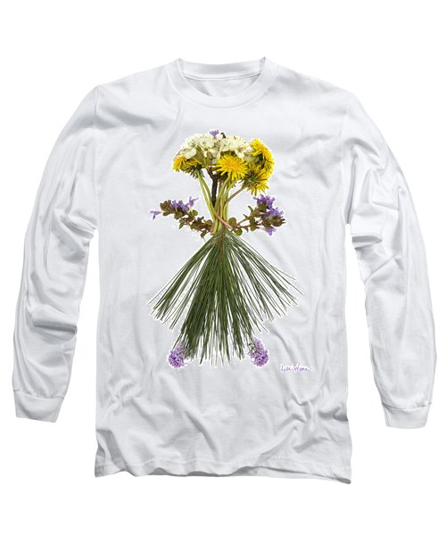 Long Sleeve T-Shirt featuring the digital art Flower Head by Lise Winne