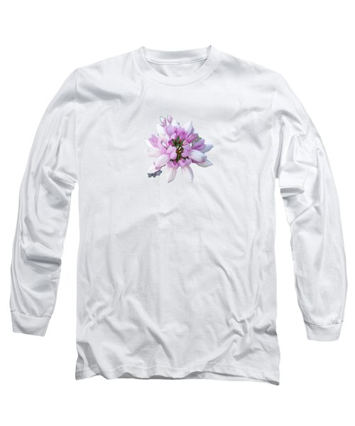 Flower Securigera Varia 2 Long Sleeve T-Shirt by Mike Breau