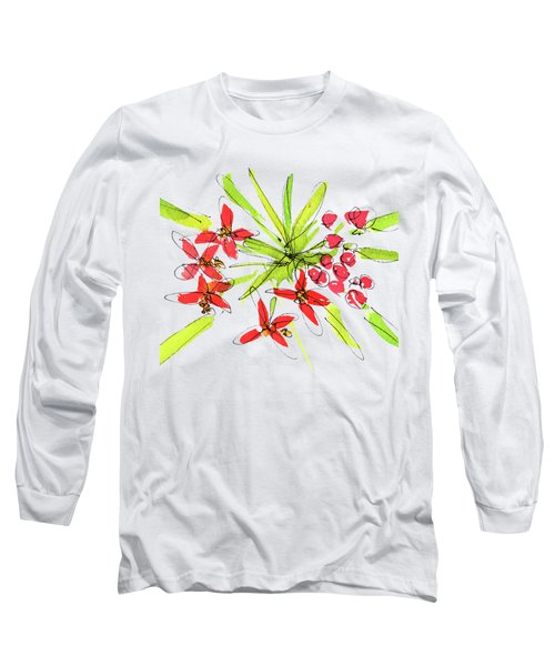 Flower Star By Kmcelwaine Long Sleeve T-Shirt