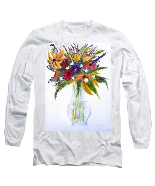 Flowers For An Occasion Long Sleeve T-Shirt by Dick Bourgault