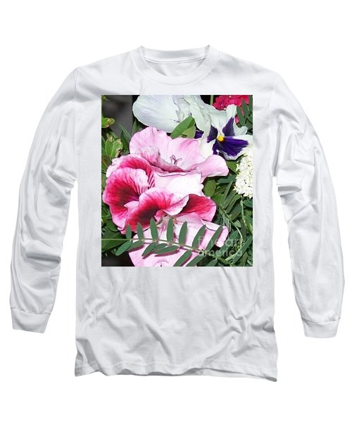 Long Sleeve T-Shirt featuring the photograph Flowers From The Heart by Jolanta Anna Karolska