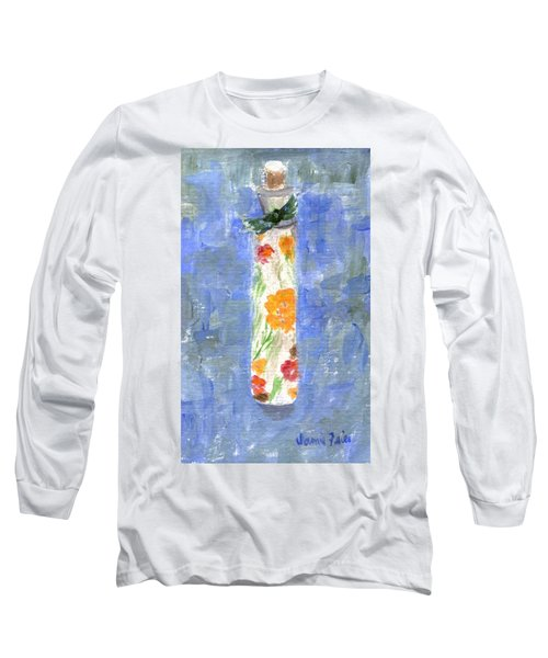 Long Sleeve T-Shirt featuring the painting Flowers In A Bottle by Jamie Frier