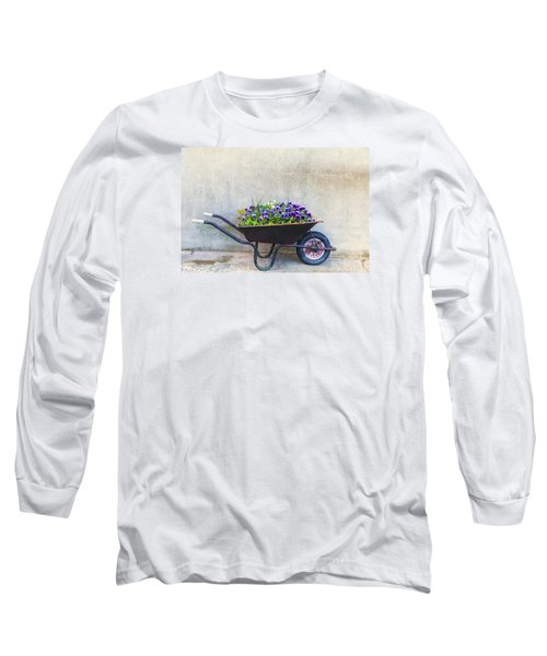 Flowers In A Wheelbarrow Long Sleeve T-Shirt