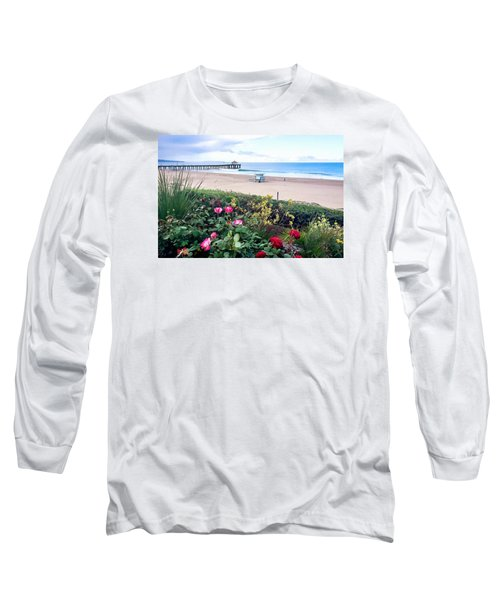 Flowers Of Manhattan Beach Long Sleeve T-Shirt by Art Block Collections