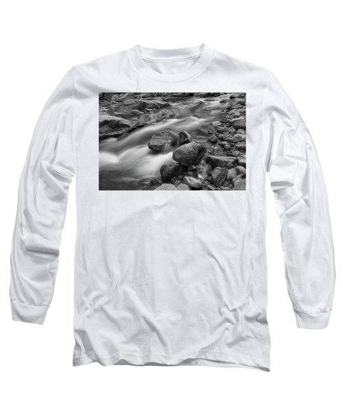 Long Sleeve T-Shirt featuring the photograph Flowing Rocks by James BO Insogna