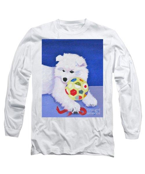 Fluffy's Portrait Long Sleeve T-Shirt by Phyllis Kaltenbach