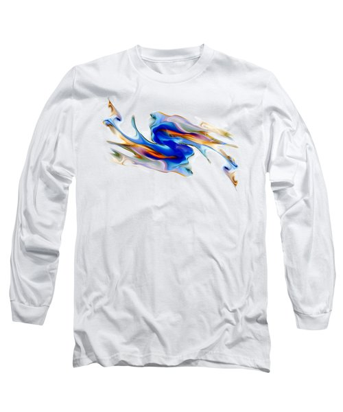 Fluid Colors Long Sleeve T-Shirt by Fran Riley