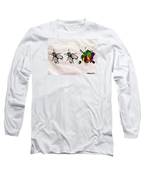 Fly On The Wall Abstract Watercolor Long Sleeve T-Shirt