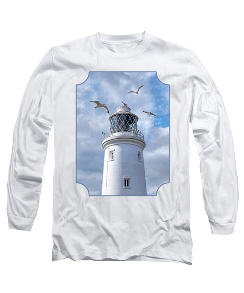 Fly Past - Seagulls Round Southwold Lighthouse Long Sleeve T-Shirt