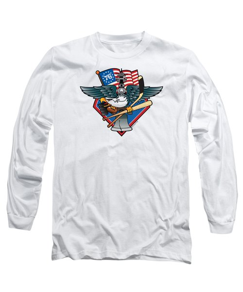 Fly. Philly, Fly, Crest Long Sleeve T-Shirt