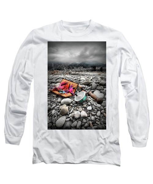 Fly Rod And Streamers Portrait Long Sleeve T-Shirt