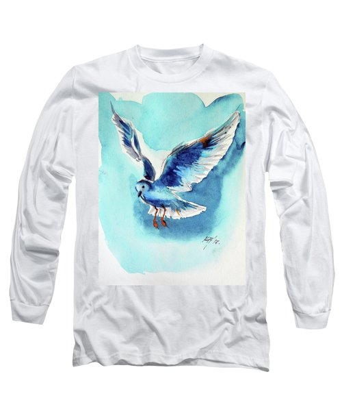 Flying Bird Long Sleeve T-Shirt by Kovacs Anna Brigitta