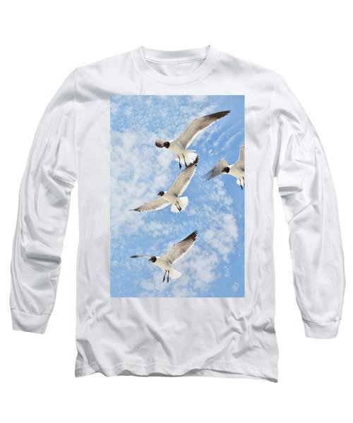 Long Sleeve T-Shirt featuring the photograph Flying High by Jan Amiss Photography