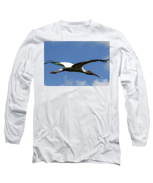 Flying Stork-no Baby Long Sleeve T-Shirt