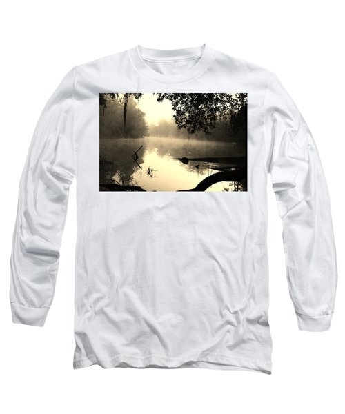 Fog And Light In Sepia Long Sleeve T-Shirt