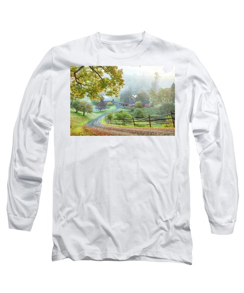 Fog On Sleepy Hollow Farm Long Sleeve T-Shirt