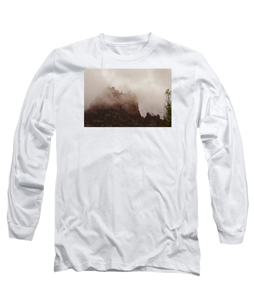 Long Sleeve T-Shirt featuring the photograph Fog Over Snoopy Rock by Tom Kelly