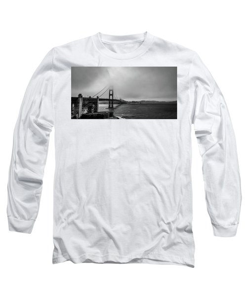 Fog Over The Golden Gate Bridge Long Sleeve T-Shirt