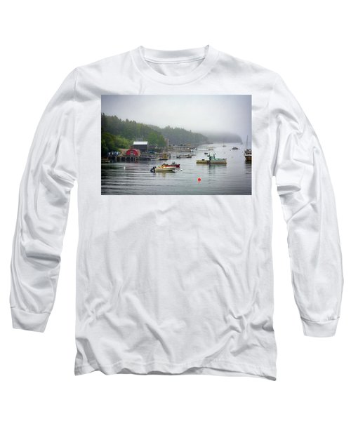 Foggy Afternoon In Mackerel Cove  Long Sleeve T-Shirt