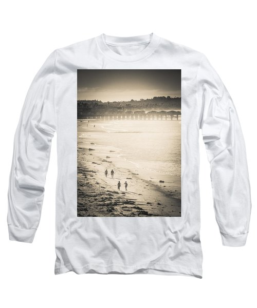 Foggy Beach Walk Long Sleeve T-Shirt