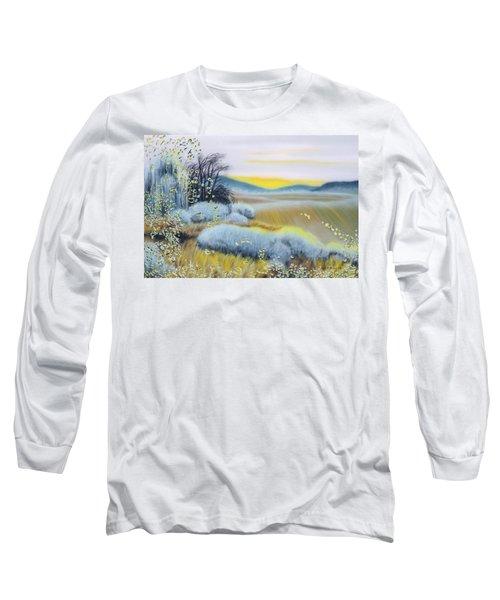 Foggy Dawn Through Window Long Sleeve T-Shirt
