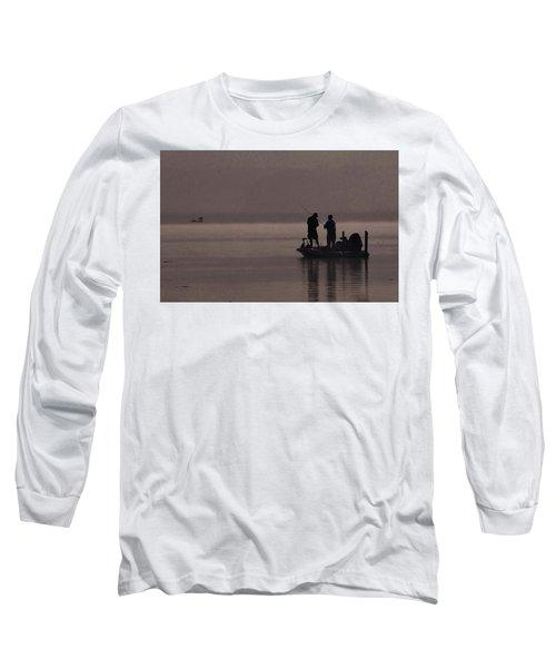 Foggy Fishing Long Sleeve T-Shirt