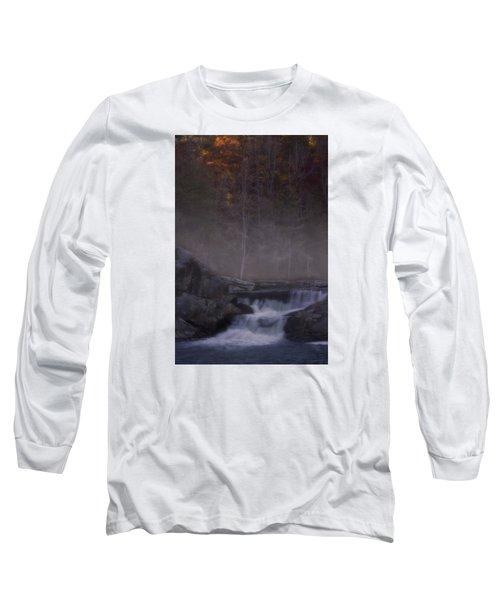 Long Sleeve T-Shirt featuring the photograph Foggy Morning At Linville Falls by Ellen Heaverlo