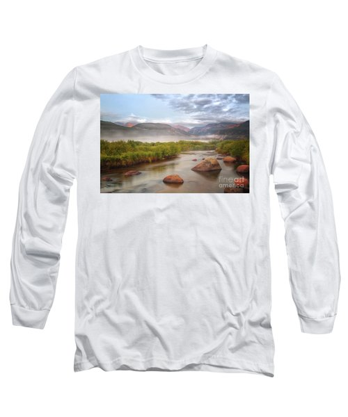 Foggy Morning In Moraine Park Long Sleeve T-Shirt by Ronda Kimbrow