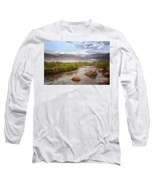 Foggy Morning In Moraine Park Long Sleeve T-Shirt