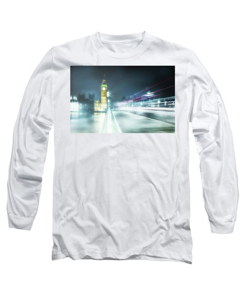 Foggy Westminster Bridge Long Sleeve T-Shirt
